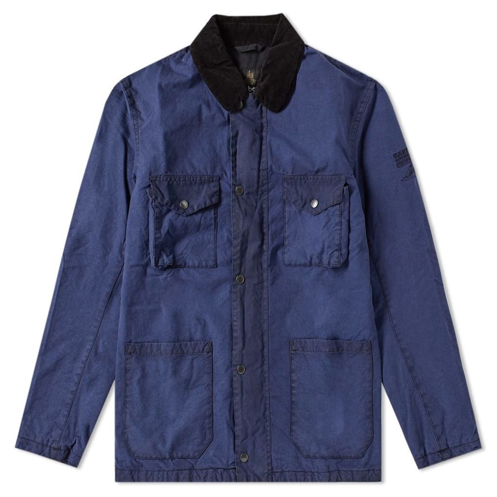 Barbour International McQueen Lawtell Wax Jacket Royal Navy