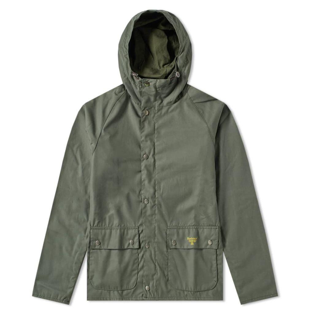 Barbour Pass Wax Jacket Light Moss