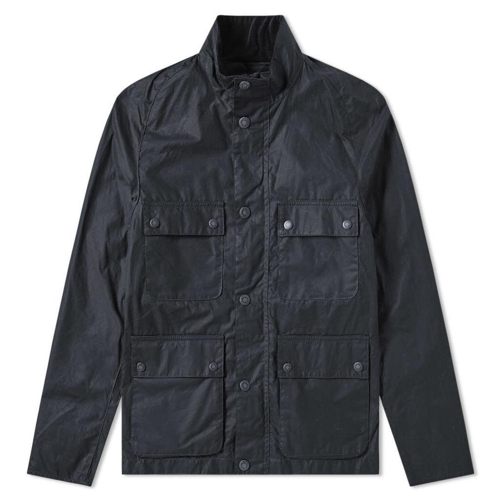 Barbour Toman Wax Jacket Royal Navy