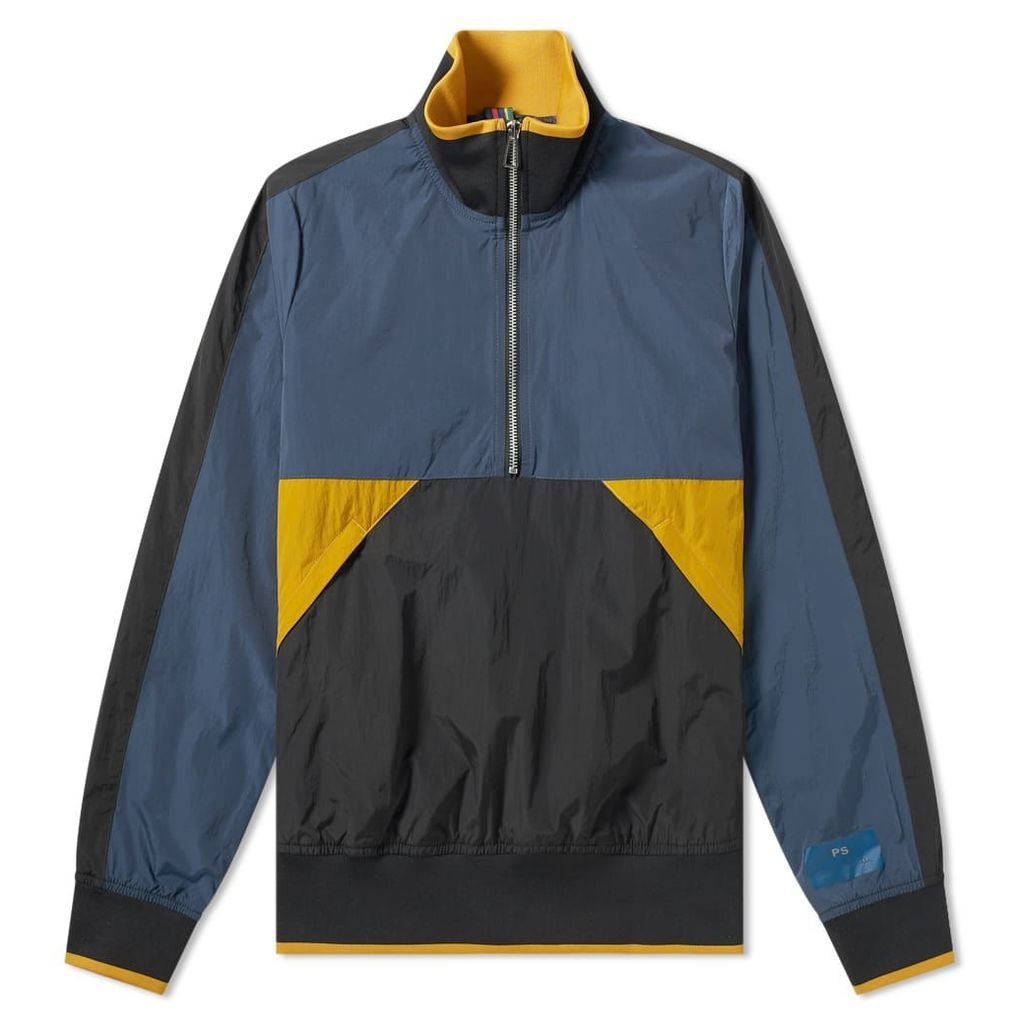 Paul Smith Nylon Half Zip Track Jacket Black