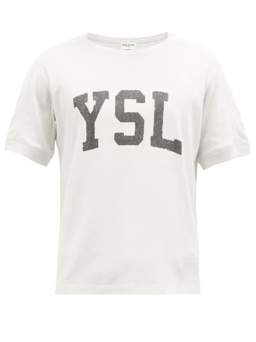 Stella Mccartney - Striped Mid Rise Wool Stirrup Trousers - Mens - Dark Blue