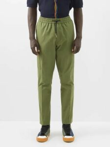 Prada - Slim Leg Cotton Blend Chino Trousers - Mens - Beige
