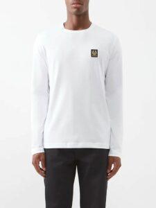 Prada - Vintage Mid Rise Belted Jeans - Mens - Light Blue