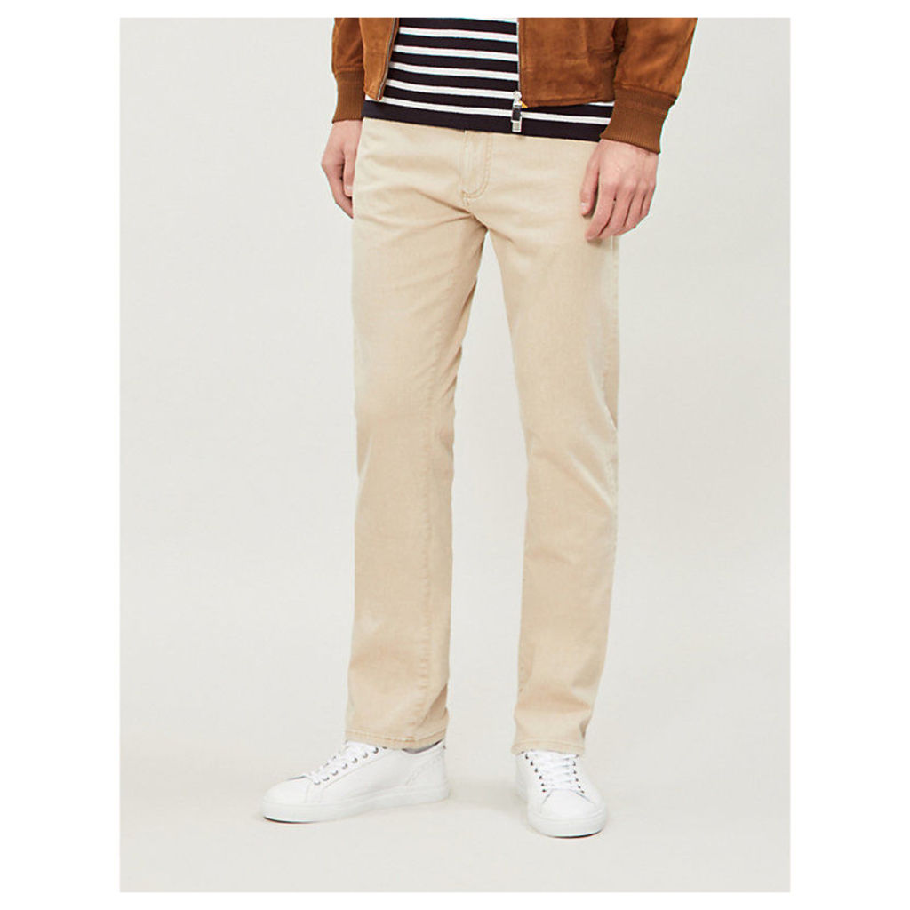 Faded mid-rise regular-fit jeans