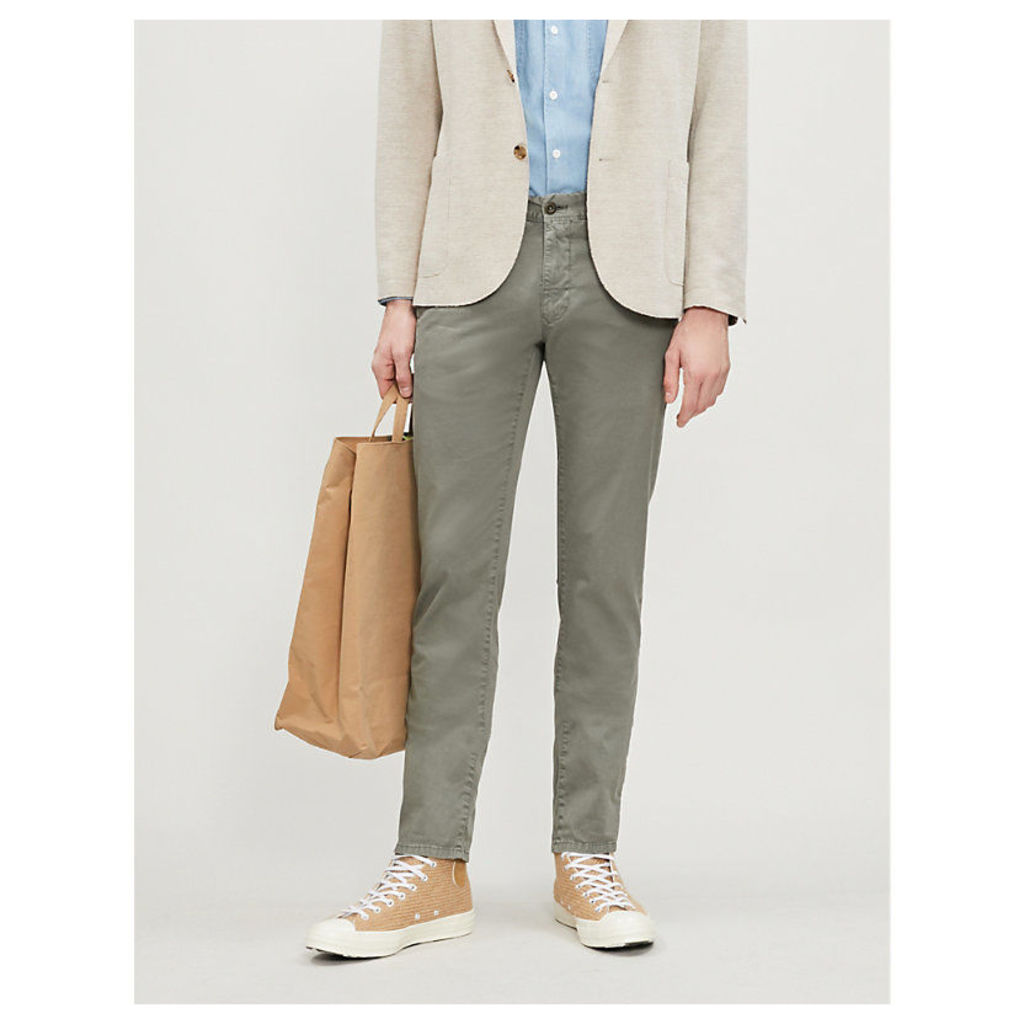 Slim-fit cotton-blend chino trousers