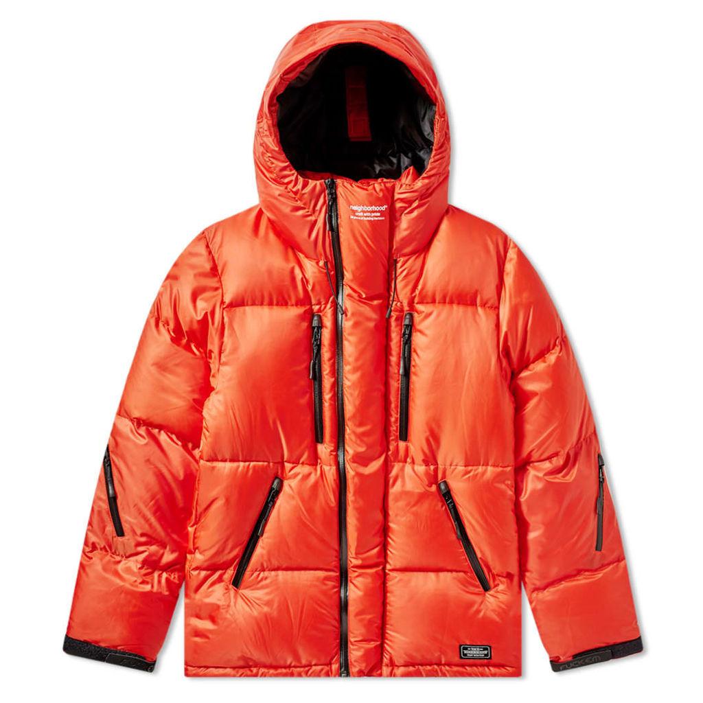 Neighborhood DEJ Down Jacket Orange