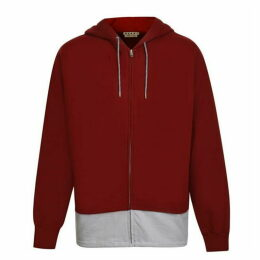 MARNI Contrasting Hem Hooded Sweatshirt