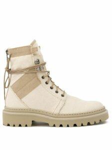 Balmain Jared ranger boots - Neutrals