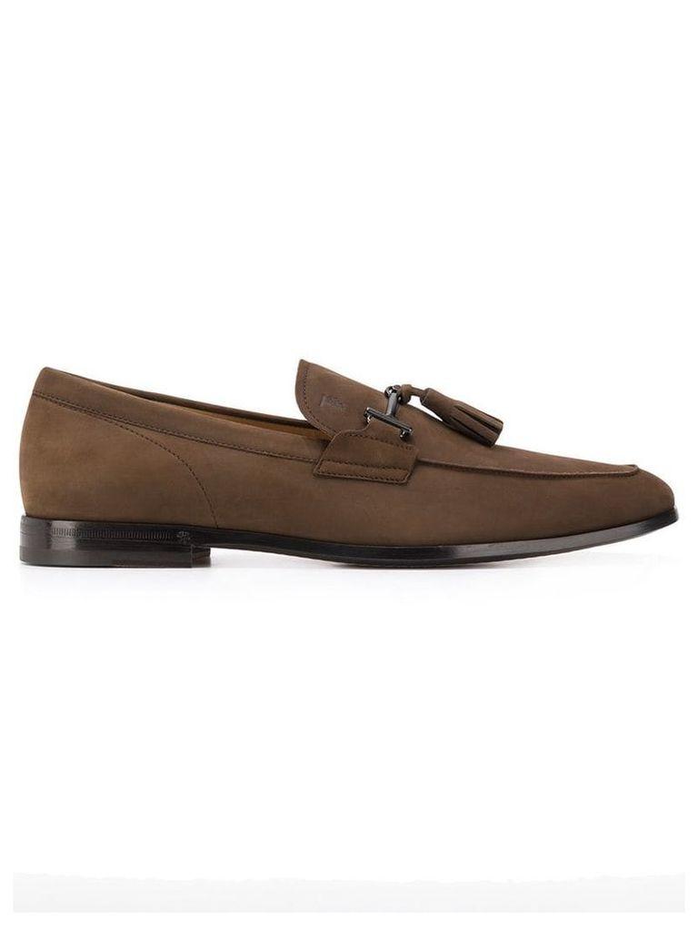 Tod's tassel detail loafers - Brown