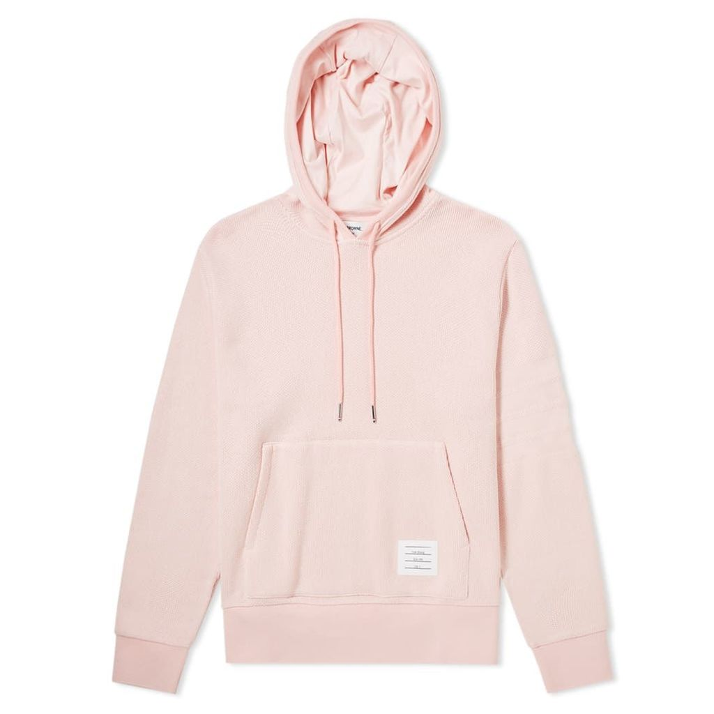 Thom Browne 4 Bar Pique Pullover Hoody Light Pink