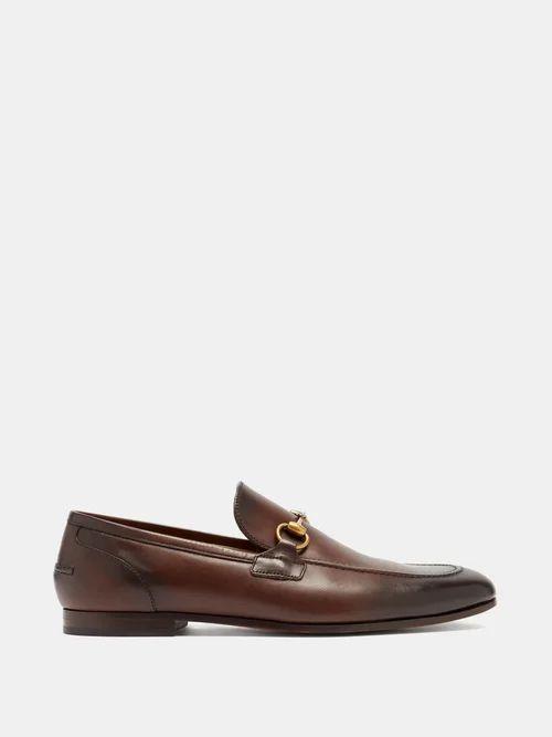 Gucci - Jordan Horsebit Leather Loafers - Mens - Brown