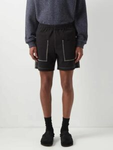 Inis Meáin - Crew Neck Linen And Silk Blend Sweater - Mens - Green