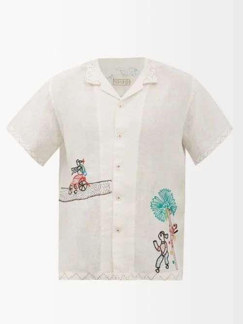 Versace - Medusa Head Loose Fit Denim Jeans - Mens - Blue