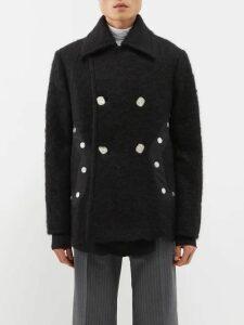 Marcelo Burlon - Ny Knicks Print Cotton Sweatshirt - Mens - Black Multi