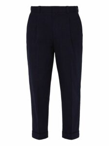 Acne Studios - Pierre Cuff Stretch Cotton Trousers - Mens - Navy