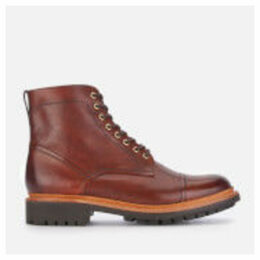 Grenson Men's Joseph Hand Painted Leather Lace Up Boots - Tan - UK 11 - Tan/Brown