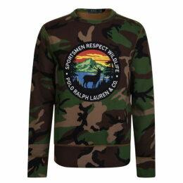 Polo Ralph Lauren Go Long Sleeve Camoflage Fleece Sweatshirt