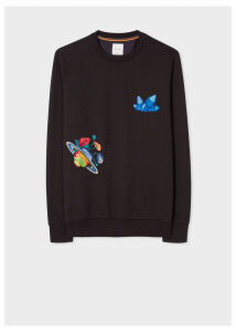 Men's Black 'Explorer' Embroidered Sweatshirt