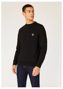 Men's Black Organic-Cotton Lunar New Year Zebra Logo Sweatshirt