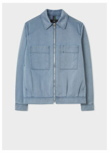 Men's Slate Blue Pigment-Dyed Patch Pocket Jacket