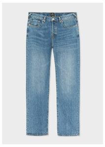 Men's Tapered-Fit 13oz 'Pink Selvedge' Light Wash Denim Jeans