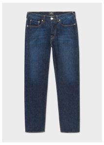 Men's Classic-Fit Dark-Wash 'Organic Salt & Pepper' Denim Jeans