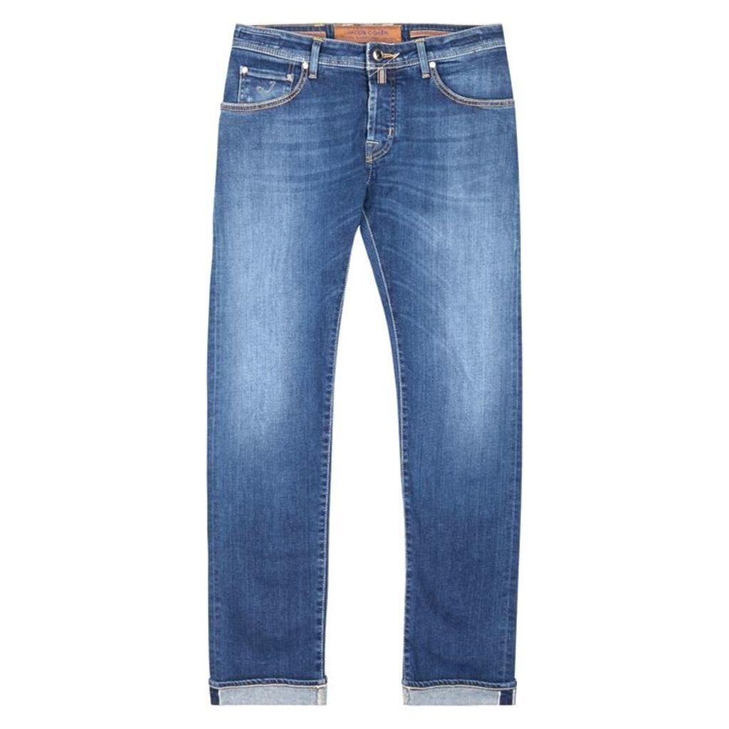 Jacob Cohën Dark Blue Slim-leg Jeans