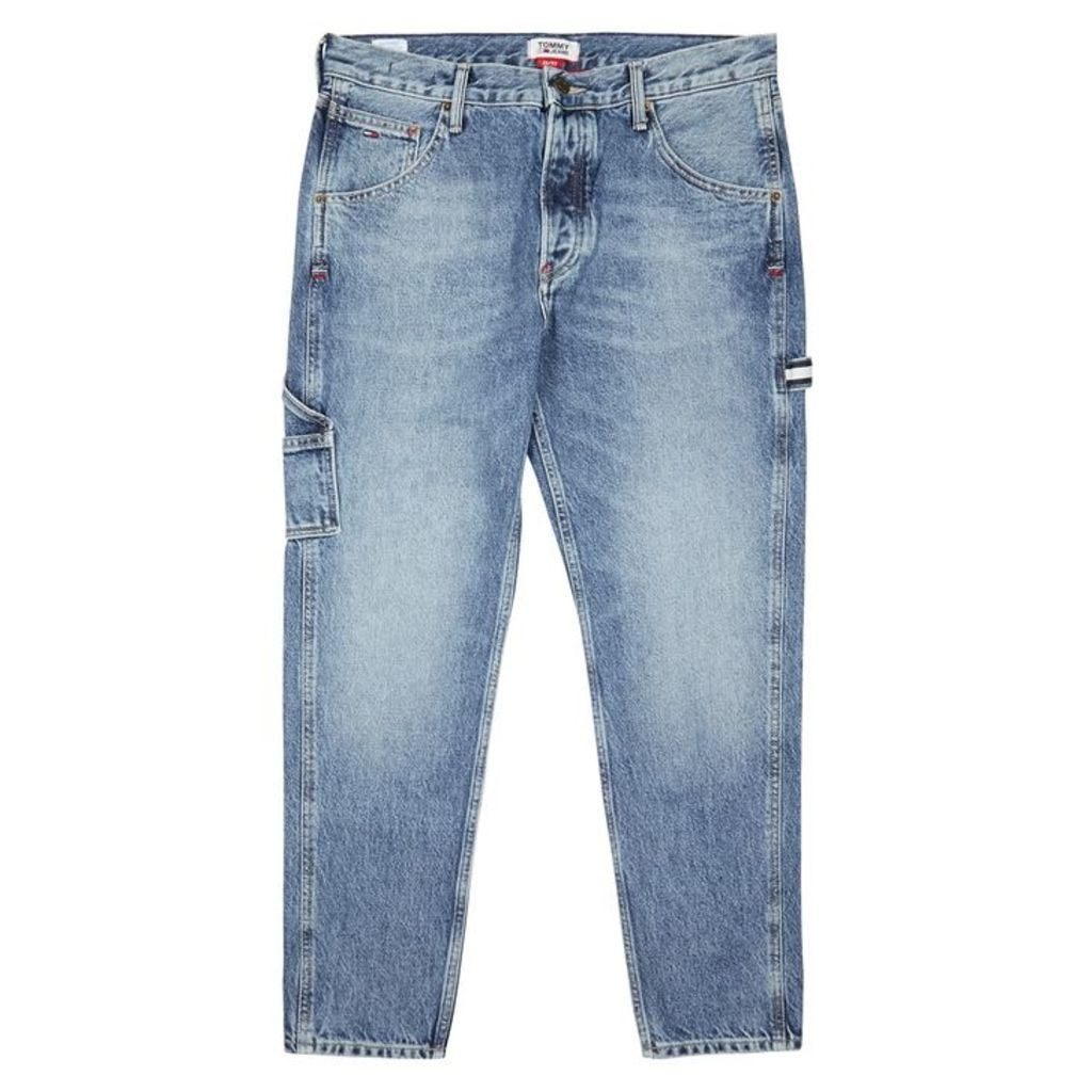 Tommy Jeans Blue Faded Tapered Jeans