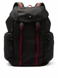 Gucci - Web-striped Canvas Backpack - Mens - Black