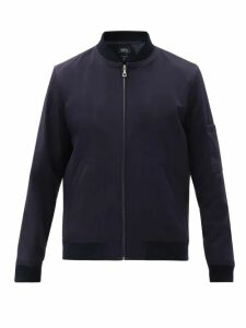 Prada - Belted Stretch Twill Straight Leg Trousers - Mens - Green