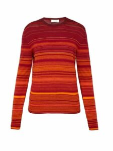 Wales Bonner - Striped Cotton Blend Sweater - Mens - Red