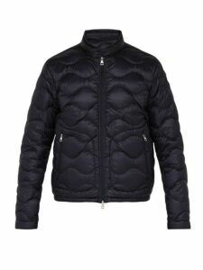 Moncler - Faber Wave Quilted Down Filled Jacket - Mens - Navy