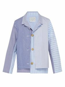By Walid - Fred Layered Cotton Jacket - Mens - Light Blue