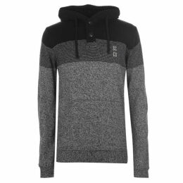 SoulCal Knitted Button Hoodie Mens
