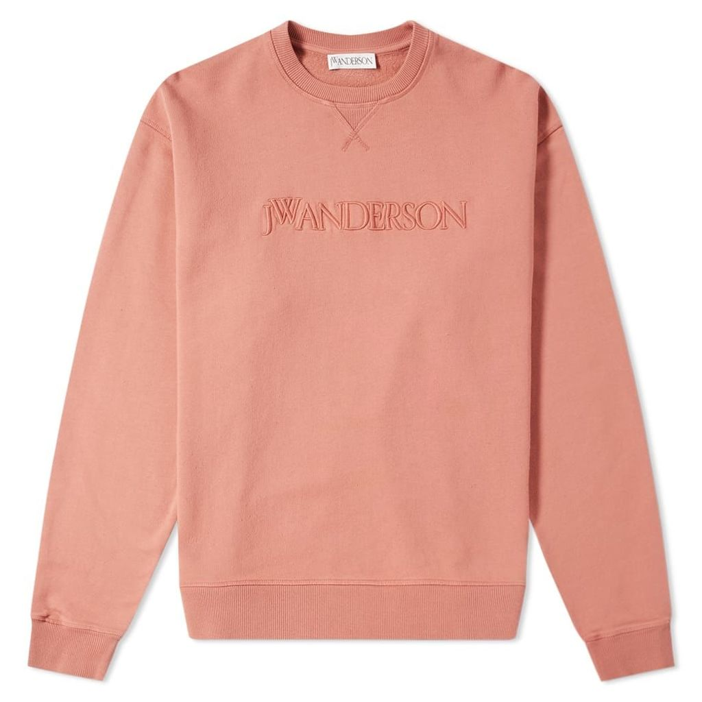JW Anderson Logo Embroidery Crew Sweat Dusty Rose