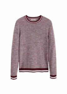 Contrast-edge flecked sweater