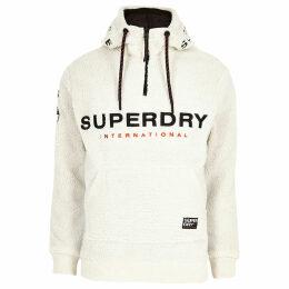 Mens River Island Superdry borg half zip hooded jumper