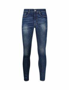Mens Mid Blue Ethan Super Skinny Fit Jeans, Blue