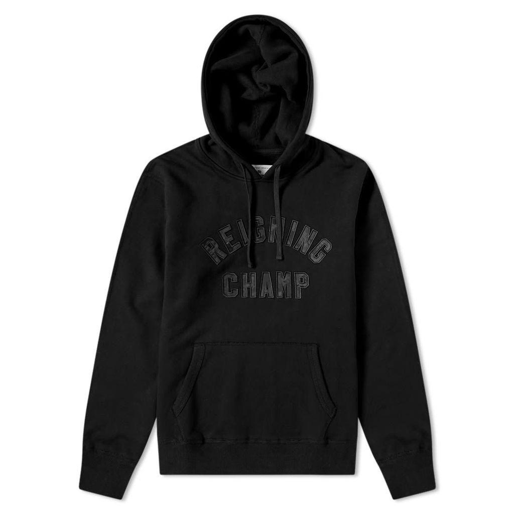 Reigning Champ Club Camo Logo Hoody Black