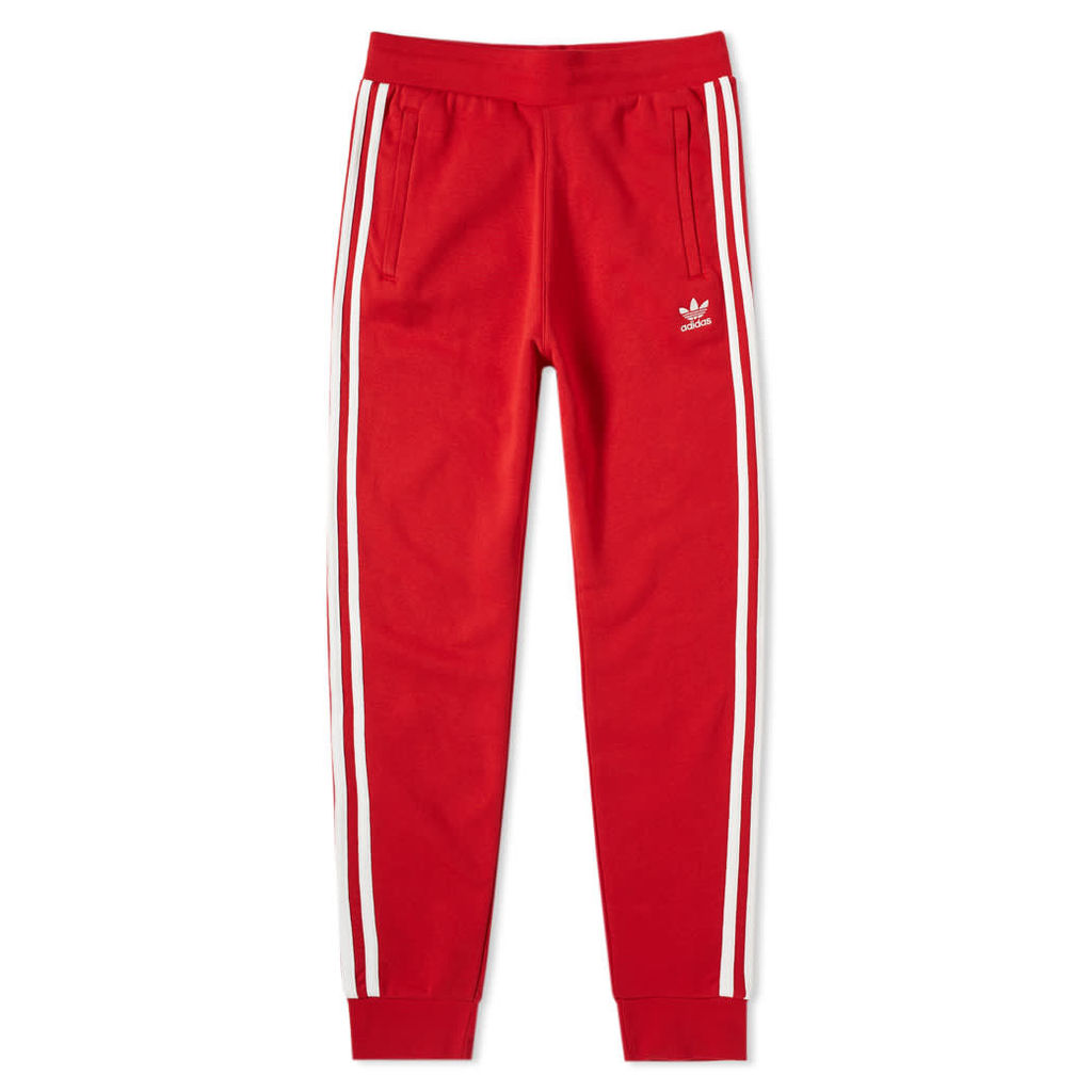 Adidas 3 Stripe Track Pant Power Red