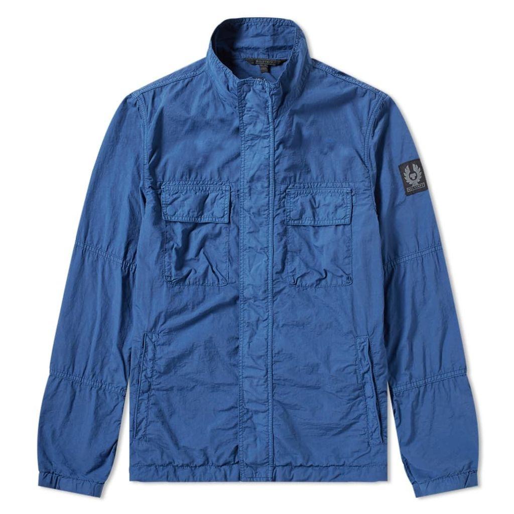 Belstaff Erwin Garment Dyed Nylon Field Jacket Lagoon