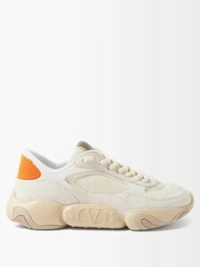 Prada - Belted Straight Leg Technical Jersey Trousers - Mens - Dark Brown