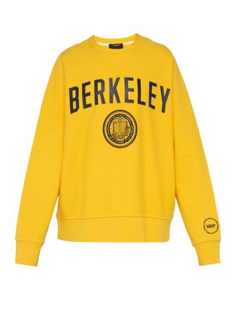 Calvin Klein 205w39nyc - Berkeley Print Cotton Sweatshirt - Mens - Yellow