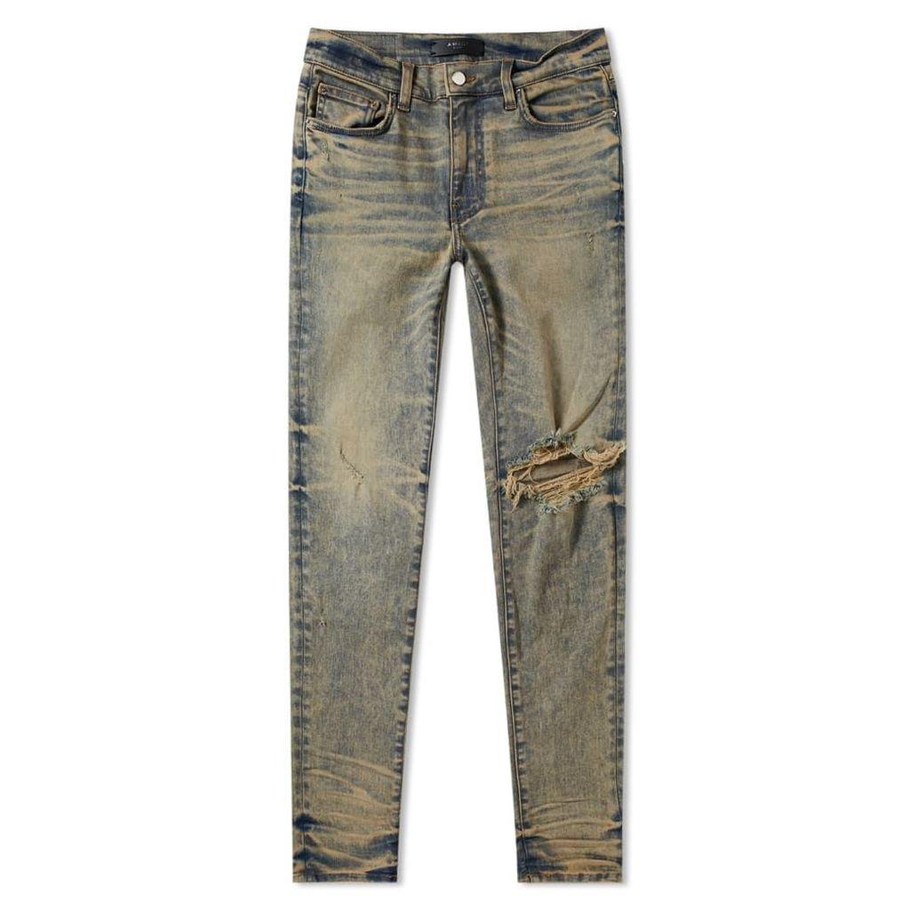 AMIRI Broken Jean Dirty Indigo