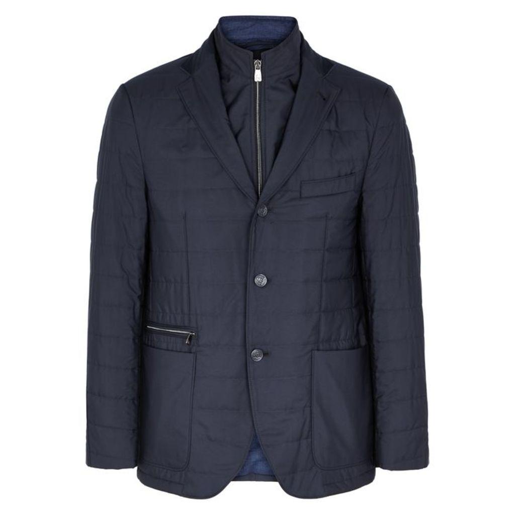 Corneliani Navy Water-resistant Shell Jacket