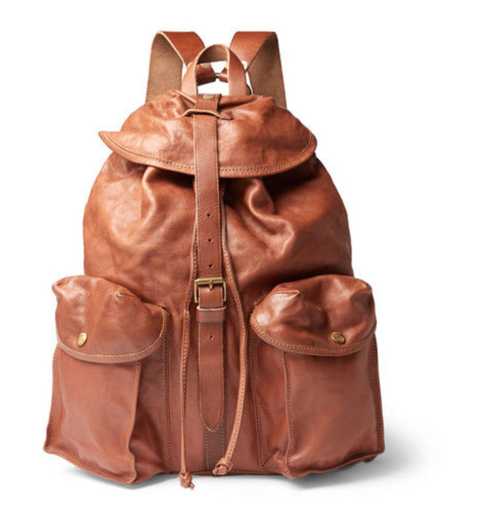 RRL - Riley Leather Backpack - Tan