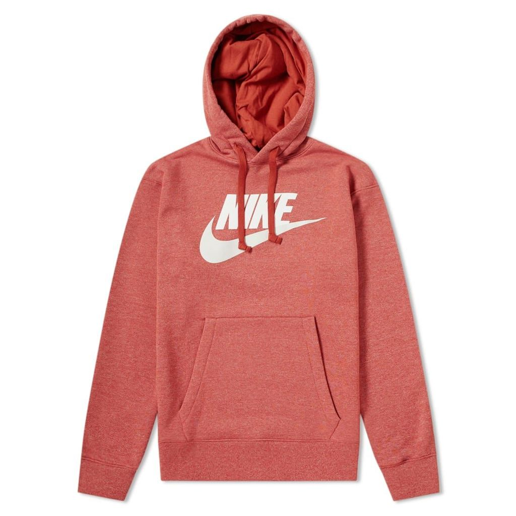 Nike Heritage Logo Pullover Hoody Firewood Orange & Heather
