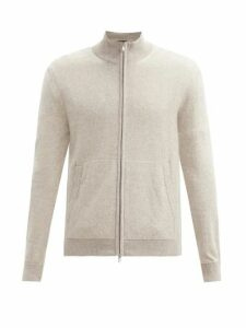 A.p.c. - Aston Logo Print Hooded Cotton Blend Sweatshirt - Mens - Beige