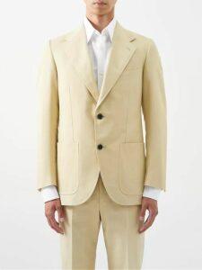 Maison Kitsuné - Tricolor Fox Patch Cotton Track Pants - Mens - Navy
