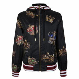 Dolce and Gabbana King Crown Hooded Jacket